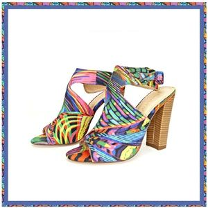 Multicolored High Heel Sandals